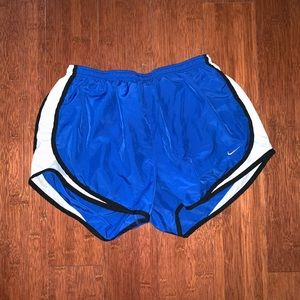 L Nike Blue/White Active Shorts
